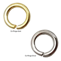 4mm Open Jump Rings - (Gold, Silver)