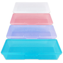 Large Personal Storage Box - Colors: (Blue, Pink, Purple, White)