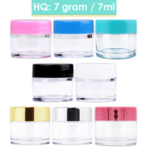 7G/7ML High Quality Clear Plastic Cosmetic Sample Jars
