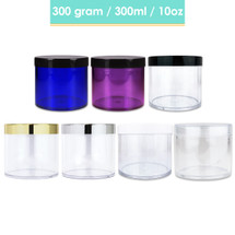 300G/300ML High Quality Clear Plastic Cosmetic Sample Jars