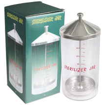 Sterilizer Jar with Metal Lid - Medium Size