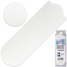 PANA BRAND GRIT: 80 WHITE STAINLESS STEEL PEDI FILE REFILL EZ-STRIP PEEL PEDICURE REFILL PADS