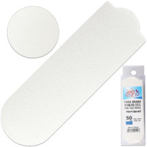 PANA BRAND GRIT: 100 WHITE STAINLESS STEEL PEDI FILE REFILL EZ-STRIP PEEL PEDICURE REFILL PADS