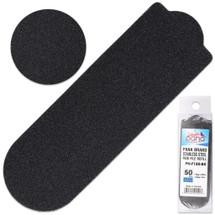 PANA BRAND GRIT: 180 BLACK STAINLESS STEEL PEDI FILE REFILL EZ-STRIP PEEL PEDICURE REFILL PADS