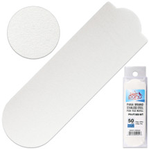 PANA BRAND GRIT: 180 WHITE STAINLESS STEEL PEDI FILE REFILL EZ-STRIP PEEL PEDICURE REFILL PADS