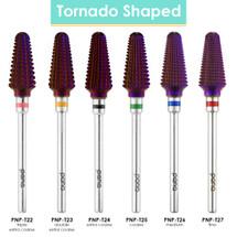 """3/32"""" Tornado Shaped Nail Carbide Bit - Grit Size: ( F, M, C,  XC, 2XC, 3XC)"""