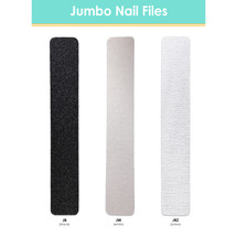 PANA Jumbo Size Double-Sided Nail File  (Color: Black, White, Zebra) (Grit: 60, 80, 100, 180, 240)