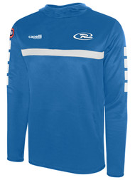 SJEB RUSH SPARROW HOODED TRAINING TOP WITH THUMBHOLES -- PROMO BLUE WHITE