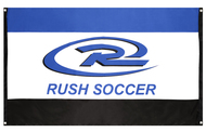 RUSH NATIONAL SOCCER FLAG WITH GROMMETS BLUE COMBO