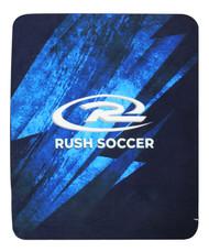 """RUSH NATIONAL SOCCER BLANKET BLACK BLUE  50"""" X 60"""""""