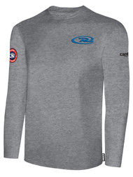 SJEB RUSH  LONG SLEEVE TSHIRT   -- LIGHT HEATHER GREY