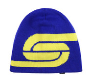 ADULT LOGO  KNIT BEANIE  -- ROYAL BLUE YELLOW