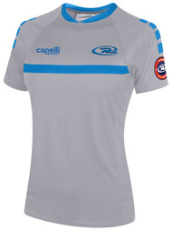 GIRLS RUSH SJEB SPARROW SHORT SLEEVE TRAINING JERSEY-- GREY BLUE