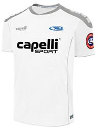 BOYS RUSH SJEB SPARROW MATCH SHORT SLEEVE AWAY JERSEY  --  WHITE GREY
