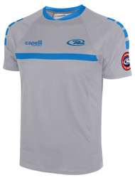 BOYS RUSH SJEB SPARROW SHORT SLEEVE TRAINING JERSEY --  GREY BLUE