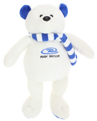 RUSH CONNECTICUT CENTRAL PLUSH BEAR  -- WHITE COMBO