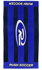 RUSH CONNECTICUT CENTRAL PRINTED TOWEL  --  BLUE BLACK