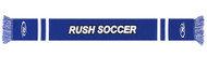 RUSH CONNECTICUT CENTRAL  JAGUARD KNIT SCARF  -- ROYAL BLUE WHITE