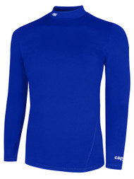ADULT TUNDRA WARM  LONG SLEEVE MOCK TURTLENECK  PERFORMANCE TOP WITH THUMBHOLES -- ROYAL BLUE