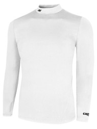 ADULT TUNDRA WARM  LONG SLEEVE MOCK TURTLENECK  PERFORMANCE TOP WITH THUMBHOLES -- WHITE
