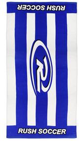 RUSH CONNECTICUT SHORELINE PRINTED TOWEL   --  BLUE WHITE