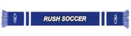 RUSH CONNECTICUT SHORELINE  JAGUARD KNIT SCARF  -- ROYAL BLUE WHITE