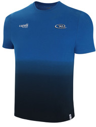 RUSH CONNECTICUT SOUTH WEST  LIFESTYLE DIP DYE TSHIRT --  PROMO BLUE BLACK **option to customize with your local club name