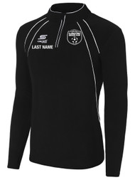 CLARKSTOWN RAVEN 1/4 ZIP FLEECE TOP -- BLACK WHITE