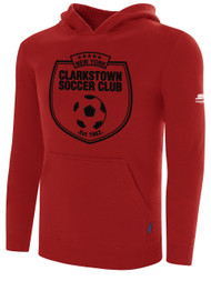 CLARKSTOWN BASIC HOODIE -- RED $35 - $40
