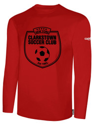 CLARKSTOWN BASIC LONG SLEEVE T-SHIRT -- RED