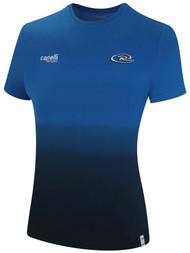 GATEWAY RUSH WOMEN LIFESTYLE DIP DYE TSHIRT --  PROMO BLUE BLACK **option to customize with your local club name