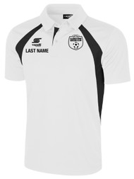 CLARKSTOWN RAVEN POLO -- WHITE BLACK