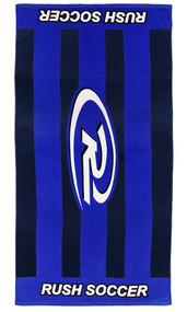 GEORGIA RUSH PRINTED TOWEL  --  BLUE BLACK