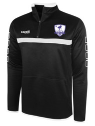 AIKEN FC SPARROW 1/4 ZIP TOP    --  BLACK WHITE