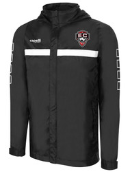 EAST COAST FC SPARROW  RAIN JACKET  -- BLACK WHITE