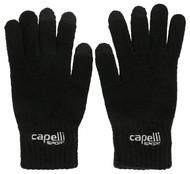 EAST COAST FC KNIT GLOVE 3 FINGERS TOUCH --  BLACK WHITE