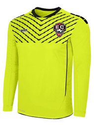 EAST COAST FCFLASH SPARROW GOALKEEPER JERSEY W/ PADDING -- NEON YELLOW BLACK