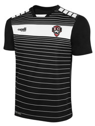 EAST COAST FC SHORT SLEEVE AWAY JERSEY  -- BLACK WHITE  --  YM, YL ARE ON BACK ORDER, WILL SHIP BY 10/4