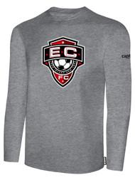 EAST COAST FC  BASICS LONG SLEEVE T-SHIRT-- LIGHT HEATHER GREY