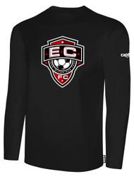 EAST COAST FC  BASICS LONG SLEEVE T-SHIRT-- BLACK
