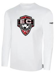 EAST COAST FC  BASICS LONG SLEEVE T-SHIRT-- WHITE