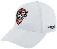 EAST COAST FC  BASEBALL HAT --WHITE  BLACK