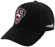 EAST COAST FC  BASEBALL HAT --BLACK WHITE