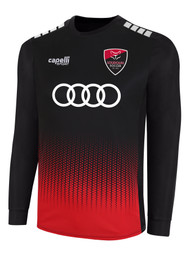 LOUDOUN BOYS  ECNL BROOKLYN OMBRE DOTS LONG SLEEVE THIRD JERSEY -- BLACK RED