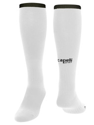LOUDOUN BOYS  TRAVEL MANDATORY  CS ONE SOCCER HOME SOCK W / ANKLE SUPPORT     -- WHITE BLACK