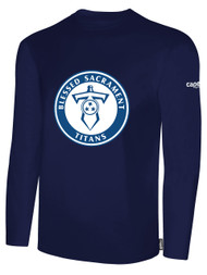 BASIC I LONG SLEEVE T-SHIRT -- NAVY