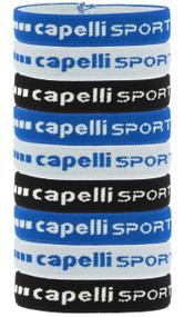 RUSH MICHIGAN NORTHVILLE CAPELLI SPORT 9-PACK ELASTIC PONY HOLDER SET W/ SILICON LINING -- BRIGHT BLUE