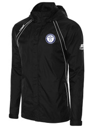 RAVEN RAIN SLICKER WITH HOODIE -- BLACK WHITE
