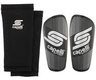 GRADIENT CUBES SHIN GUARDS -- BLACK SILVER METALLIC