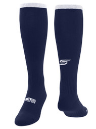 CS ONE SOCCER SOCK WITH ANKLE SUPPORT -- NAVY WHITE
